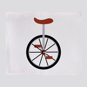 Red Unicycle Throw Blanket
