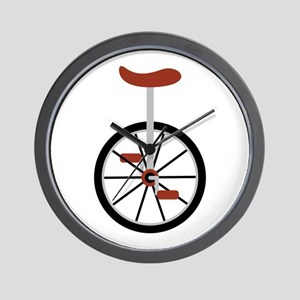 Red Unicycle Wall Clock