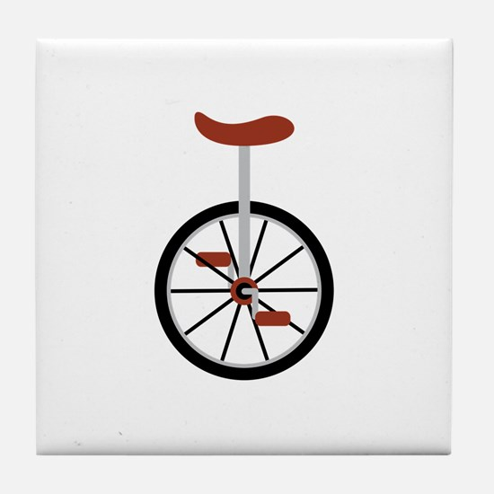 Red Unicycle Tile Coaster