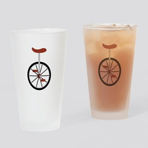 Red Unicycle Drinking Glass