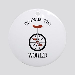One With The World Ornament (Round)