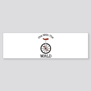 One With The World Bumper Sticker
