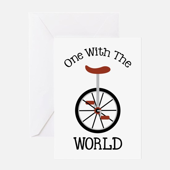 One With The World Greeting Cards
