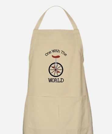 One With The World Apron