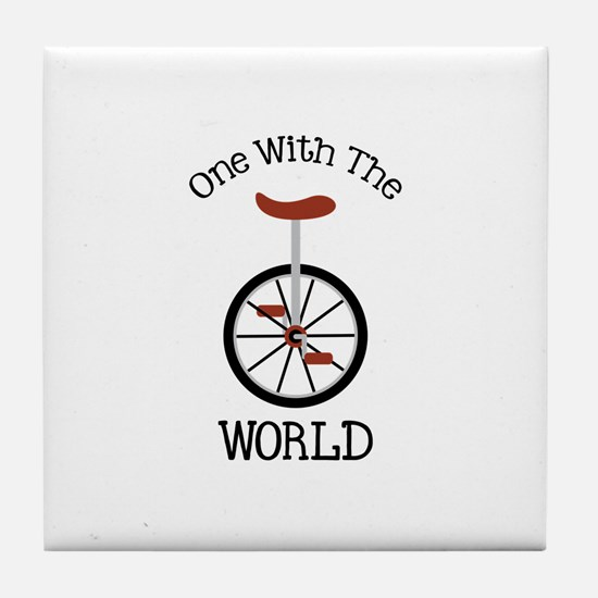 One With The World Tile Coaster