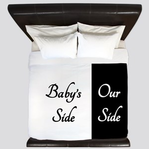 The Babys Side Our Side King Duvet