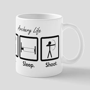 Eat. Sleep. Shoot. (Recurve) Mugs