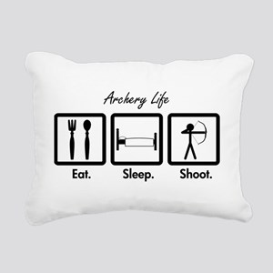 Eat. Sleep. Shoot. (Recurve) Rectangular Canvas Pi