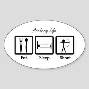 Eat. Sleep. Shoot. (Recurve) Sticker (Oval)
