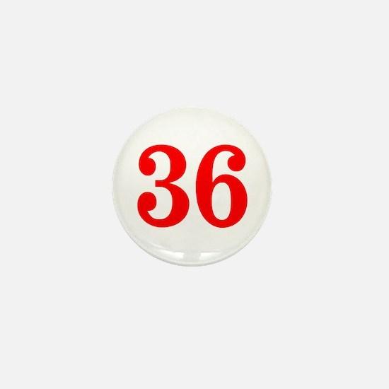 RED #36 Mini Button