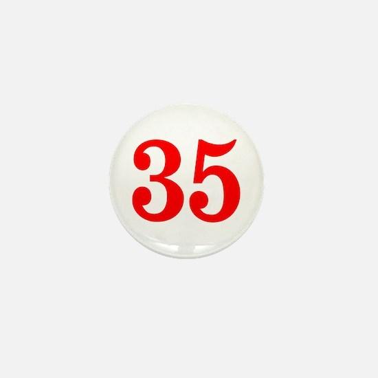 RED #35 Mini Button