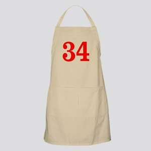 RED #34 Apron