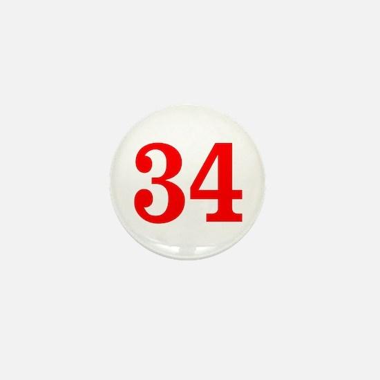 RED #34 Mini Button