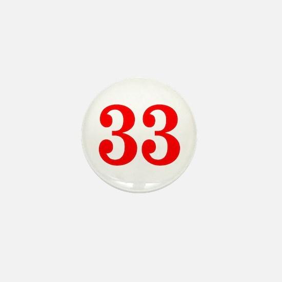 RED #33 Mini Button