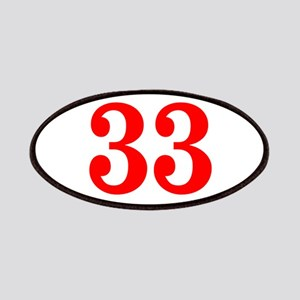 RED #33 Patches
