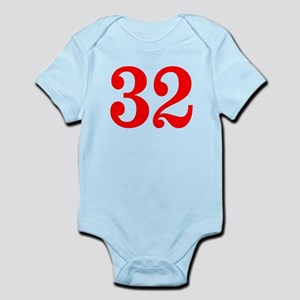 RED #32 Infant Bodysuit