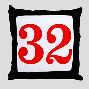 RED #32 Throw Pillow