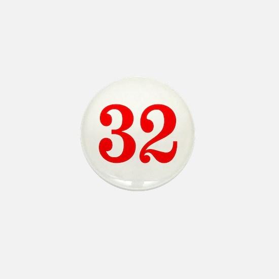 RED #32 Mini Button