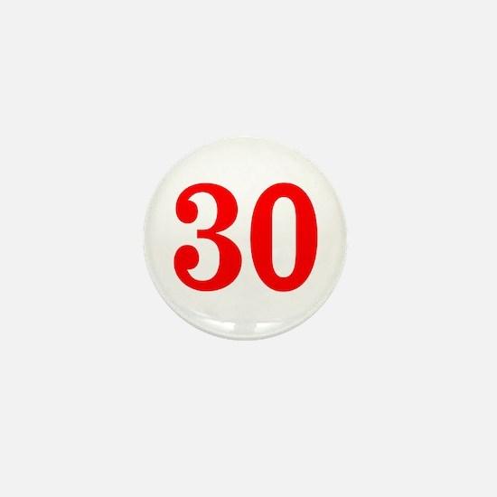 RED #30 Mini Button