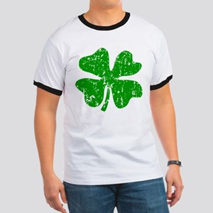 Green distressed shamrock T-Shirt