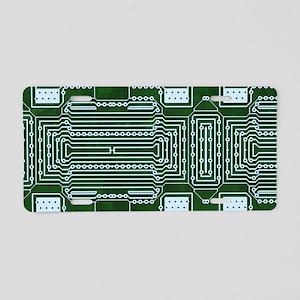 Green Geek Motherboard Circ Aluminum License Plate