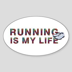 TOP Running Life Sticker (Oval)