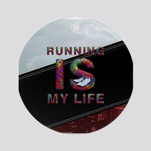 TOP Running Life Round Ornament