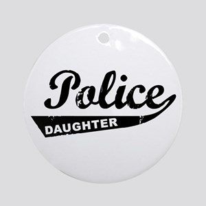 Vintage Police Daughter Ornament (Round)