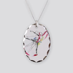Anatomy of Ballet Necklace Oval Charm