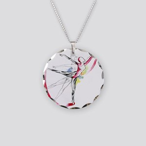 Anatomy of Ballet Necklace Circle Charm