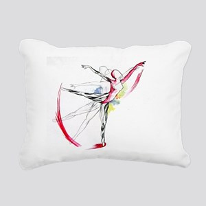 Anatomy of Ballet Rectangular Canvas Pillow