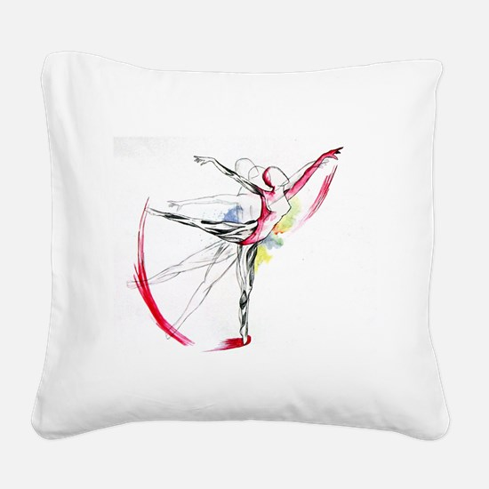 Anatomy of Ballet Square Canvas Pillow