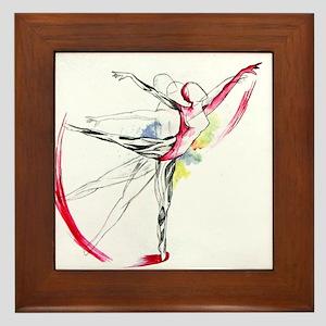 Anatomy of Ballet Framed Tile