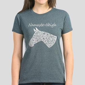 Horse Namaste Neigh Women's Dark T-Shirt