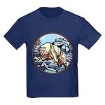 Polar Bear Kids Dark T-Shirt Cool Native Bear Art