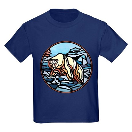 Polar Bear Kids Dark T-Shirt Cool Native Bear Art