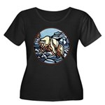 Polar Bear Art Women's Plus Size Scoop Neck Dark T