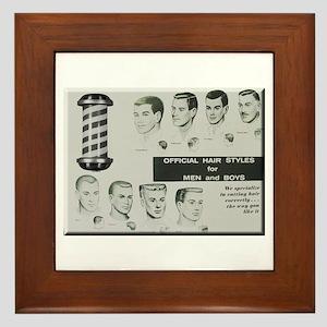 Official Hair Styles of the 50s Framed Tile