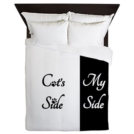 Cats Side My Side Queen Duvet