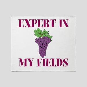 Expert in My Fields Throw Blanket