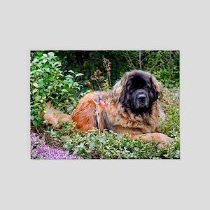 Leonberger Dog 5'x7'Area Rug