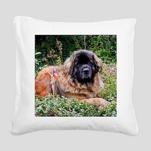 Leonberger Dog Square Canvas Pillow
