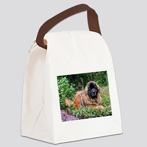 Leonberger Dog Canvas Lunch Bag