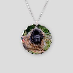 Leonberger Dog Necklace Circle Charm