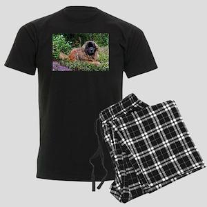 Leonberger Dog Men's Dark Pajamas