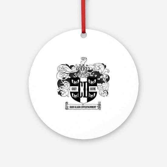 Corey Drumz Crest Logo Round Ornament