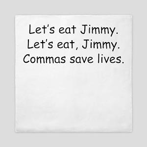 Commas Save Lives Queen Duvet