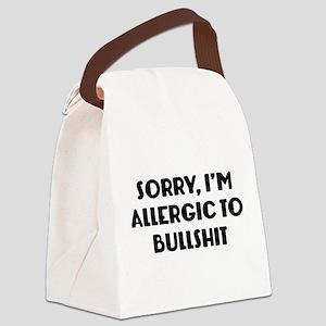 Sorry, I'm Allergic To Bullshit Canvas Lunch Bag