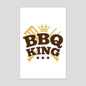 BBQ KING Mini Poster Print