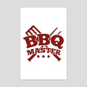 BBQ MASTER Mini Poster Print